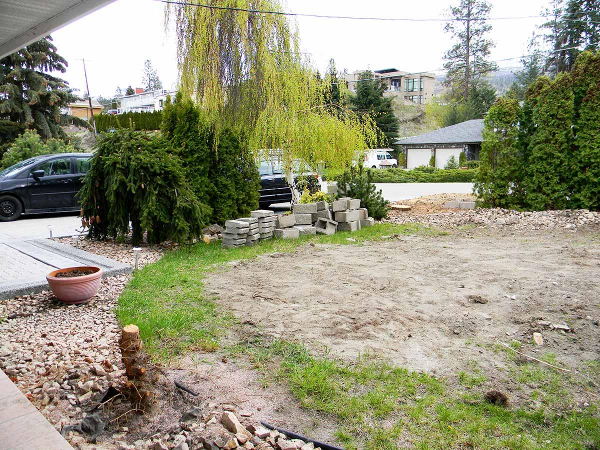 Achenbach Garden front garden before the xeriscape project