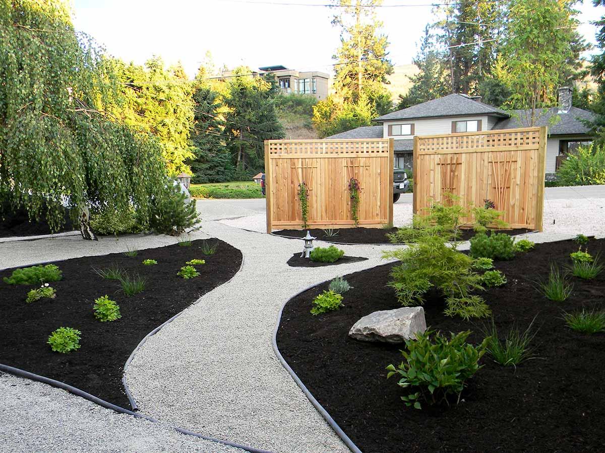 Achenbach Garden soon after xeriscaping