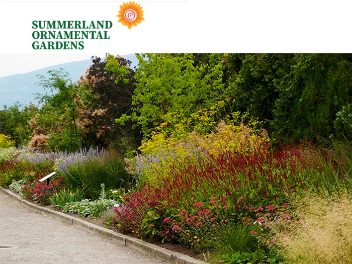 Link to the Summerland Ornamental Gardens in the South Okanagan